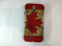 Retro Country Flag Case Hard Back Cover Shell Case For Samsung Galaxy S4 i9500 mobile phone Cases mix color 100pcs