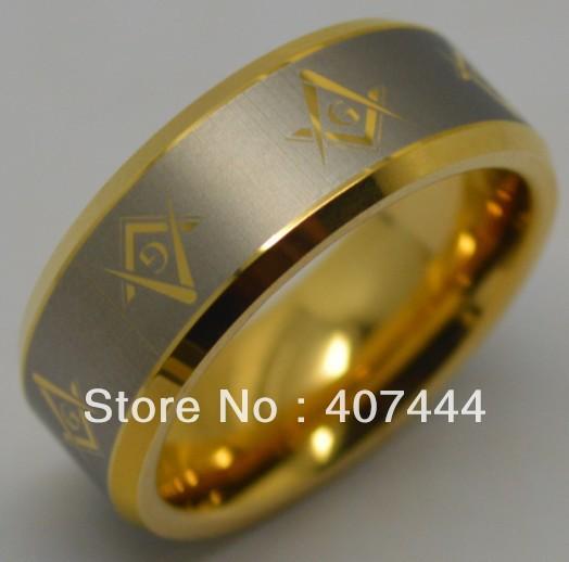 Freemason Rings Tungsten Tungsten Masonic Ring