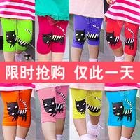 Free Shipping NEWEST Fashion Candy Color Lovely Cat Girls Leggings Children's Skinny Leggings Short Pants Clothing Capris