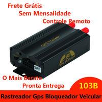 Rastreador E Bloqueador Gps/gprs/gsm/sms Veicular Tk-103b rastreamento gpstrackerxy Alarm SD Card Slot Anti theft dropshipping