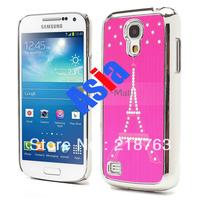Wholesale -Diamond Eiffel Tower Star Electroplated Hard Case Skin for Samsung Galaxy S4 mini i9195 i9190 20pcs/lot free shipping
