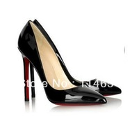 2013 classic pointed 11 cm high heels red bottom light mouth single shoes dance shoes*wholesale