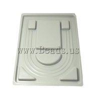 Free shipping!!!Bead Design Board,innovative, Plastic, Rectangle, white, 235x330x15mm, 5PC/Lot, Sold By Lot