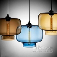 Modern Art Niche Glass Pendant Lamp Vintage bulb Dining Room Bar Pendant Light Italy Creative Design