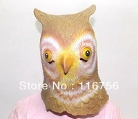 Best Quality Best Price-Adult-Free Shipping-Owl Mask Creepy Halloween Animal Costume Theater Prop Novelty Latex Rubber Wholesale