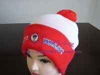 Child ball knitted warm plain bobble hats
