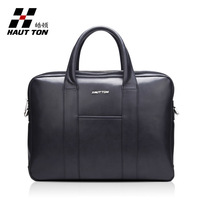 Wholesale free shipping New arrival hautton man bag handbag multifunctional commercial man bag double layer zipper laptop bag