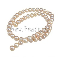 Free shipping!!!Potato Cultured Freshwater Pearl Beads,Wholesale 2013 Jewelry, natural, pink, 7-8mm, Hole:Approx 0.8mm