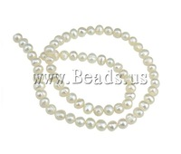 Free shipping!!!Potato Cultured Freshwater Pearl Beads,australian, natural, white, 6-7mm, Hole:Approx 0.8mm, Length:15 Inch