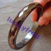 2014 NEW! wholesale fashion regular black Hematite Faceted Bracelet Bangle Free Shipping