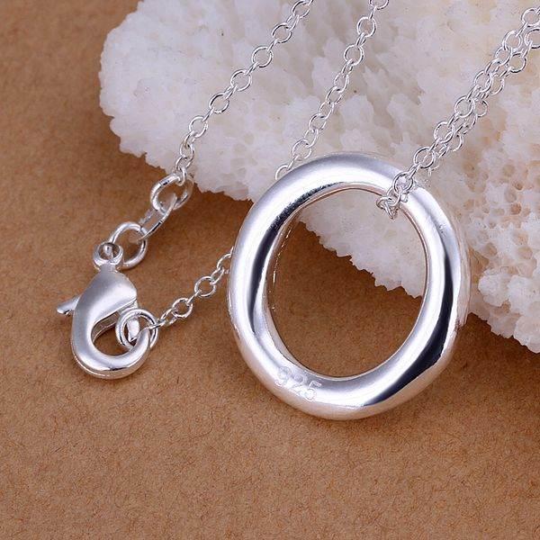 P217 fashion jewelry chains necklace 925 silver pendant Small O Pendant /btmakktatc(China (Mainland))