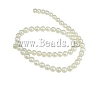 Free shipping!!!Round Cultured Freshwater Pearl Beads,2013 men, natural, white, 7-8mm, Hole:Approx 0.8mm, Length:15 Inch