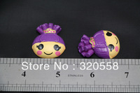 New lovely  lala loopsy purple hair crown  resin Flatback Scrapbooking Hair Bows/brooch 50pcs