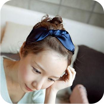 Fashion  silks and satins big bowknot  luxury elegant big glasses hair pin  hair band free shipping