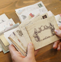 Min odrer is $5 ( Mix oder )free shipping 1Lot= 24Pcs Retro style mini envelope, color envelopes AQ087