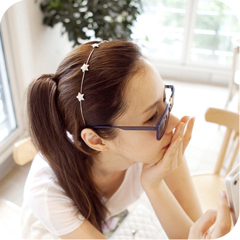 Fashion rhinestone five-pointed star hair bands free shipping