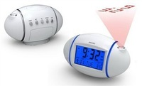 FreeShipping+ Talking alarm clock voice alarm clock backlight calendar projection clock 815 electronic clock gift