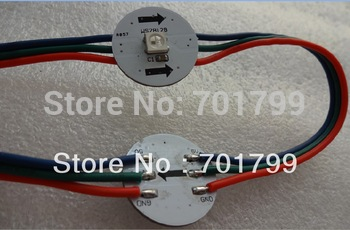 WS2812B DC5V 22mm diameter round pixel light,DC5V input(5050 smd RGB led with WS2811IC built-in)
