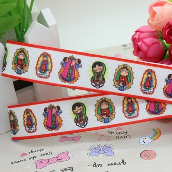 New 7/8'' Free shipping symbol of church angel printed grosgrain ribbon hairbow diy party decoration wholesale OEM 22mm H960