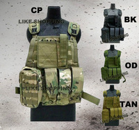 tactical vest chest hanging fans vest black /green tan CP for choose