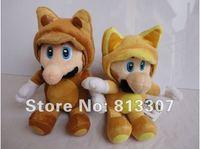 Free shipping 1pc New  Kitsune Tanooki Plush Doll Toy 8 inch 20cm Super Mario Bros Fox Luigi  Retail