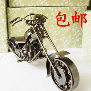 Free Shipping Iron crafts decoration motorcycle model modern decoration male birthday gift