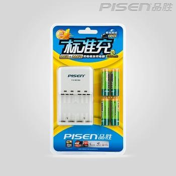 PISEN standard rechargeable AA batteries Charger Kit 1800mah * 4 rechargeable battery + Charger Kit