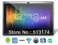 7 Android 4.0.4 A13 1.2GHz Tablet PC with External 3G, 1080P Playback, Capacitive Touch (4G) (Black)