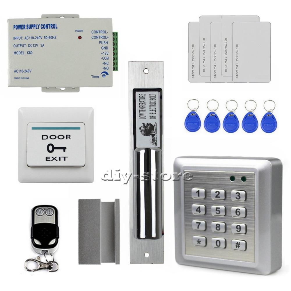 buy diy remote control rfid keypad door access control security system kit. Black Bedroom Furniture Sets. Home Design Ideas