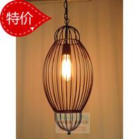 American black wrought iron pendant light bar table bird cage pendant light lamp