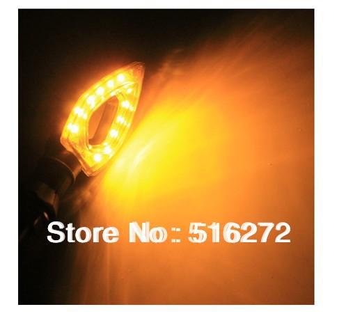 12 LED Bulbs Amber Motorcycle Turn Signal Indicator Light Lamp Universal 12V 6style 2color light 1pair(China (Mainland))