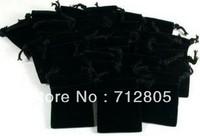 Wholesale 100pcs/lot 5x5.5cm Small Mini Black Velvet Pouch Jewelry Packaging Gift Bag Drawstring Bag Free Shipping
