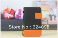 DHL Free Shipping 20pcs/lot PU Leather Case Pouch Bag With Wallet For Samsung Galaxy Note 2 N7100,Wholesale Factory Price
