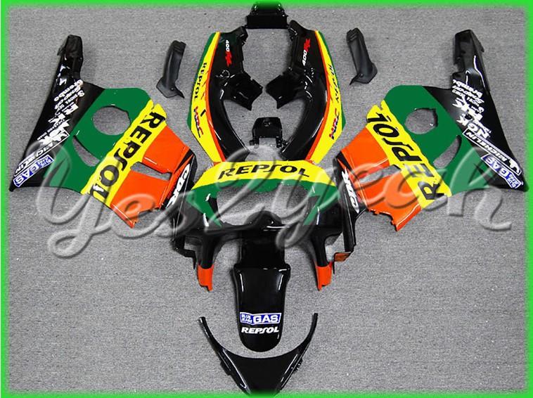 Fits for CBR400RR MC29 91 92 MC29 CBR400RR MC29 1991 1992 Repsol Green ABS Fairing ZN178(China (Mainland))