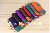 Wholesale 300pcs Retro Leather Wallet Flip Case Cover Pouch with Card Holder Stand for N7100 Samsung Galaxy Note 2 ii+DHL Free