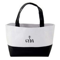 Grocery gyda black-and-white trend appendix PU lunch bags handbag  free shipping