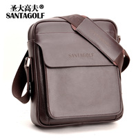 2013 SANTAGOLF Genuine Leather Mens Bag Fashion Cowhide Shoulder Bag Casual Man Bag Messenger Leather Bag High Quality