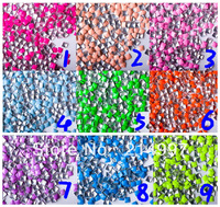 1000pcs/pack Punk Rock 2013 most popular fluo stud .squre shapes 3D Nail Art Tips Phone Design Decoration Freeshipping