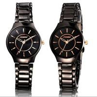 Rose Gold Time Point Women Noble Wristwatch Stainless Steel Sport Quartz Watch