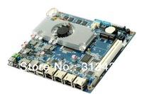4 ethernet ports 12v mini pc motherboard supporting Intel Atom D2550 CPU/2*com/8*usb