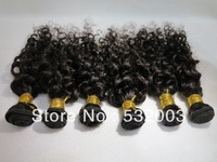 Queen hair product Brazilian virgin kinky curly hair 3pcs/lot, 5A & unprocessed hair& Natural color &can be dyed, Free shipping
