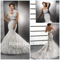 Sexy White Royal Sweetheart Bridal Gown Sash Ruffle Lace Up Court Train Mermaid Wedding Dresses By Designer