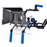 Professional Camera Rig Supports Pro DV DSLR Shoulder Mount Stabilizer 15mm Rod Rig Follow Focus Matte Box Kit