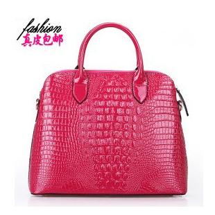 Fashion quality embossed crocodile pattern genuine leather women's handbag female one shoulder cross-body handbag cowhide