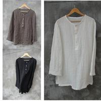 Unique men's clothing chinese style linen shirt