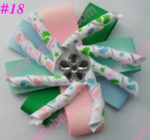 New fashion bows 500ps diamond flower korker hair bows layered korker hair bows(China (Mainland))