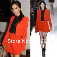 2013 European and American women's boutique Victoria Beckhams new star of the same cardigan jacket skirt suit