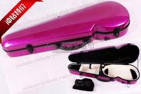 dark pink 4/4 Violin Case Fiber Glass Strong Light Inside is Soft velvet material.