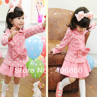 2013 spring child female child girl polka dot skirt short skirt set 2 piece set princess skirt