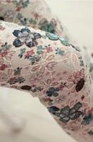 Free shipping 2015 New fashion Korean Women 3D flower lace sexy bottoming nine points pencil pants white Leggings wholesale